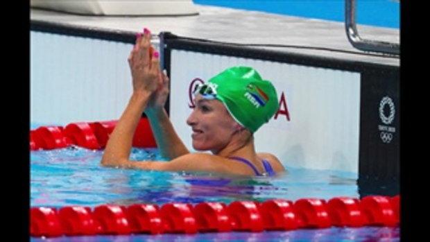 นักกีฬาว่ายน้ำ โอลิมปิกเกมส์ 2020 กับสีเล็บสุดโดดเด่น
