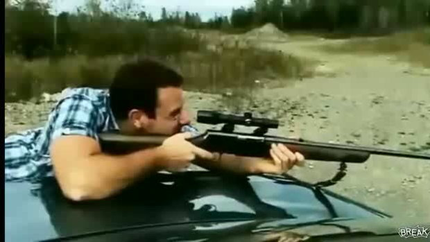 กล้องเล็งปืนกระแทกเบ้าตา
