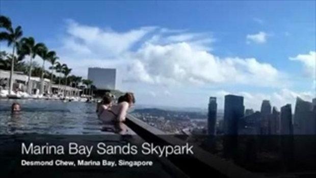 สระว่ายน้ำลอยฟ้า Marina bay