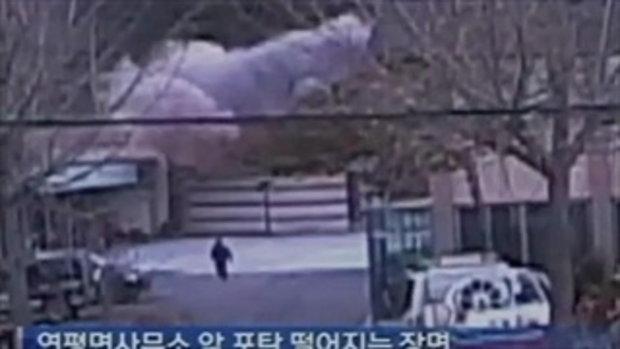 กล้องจับ! นาทีเกาหลีใต้โดนยิงถล่ม
