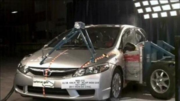 Crash Test  Honda Civic (Side Impact Test)
