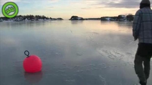 ผลิกวิกฤตเป็นโอกาส เล่นสเก็ต บนทะเลน้ำแข็ง