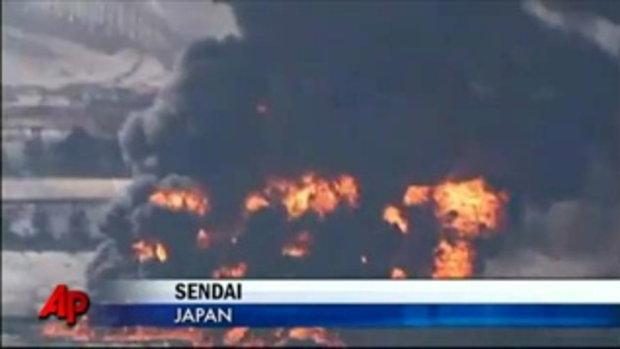 ความเสียหายเมือง เซนได ญี่ปุ่น หลังโดนสึนามิ