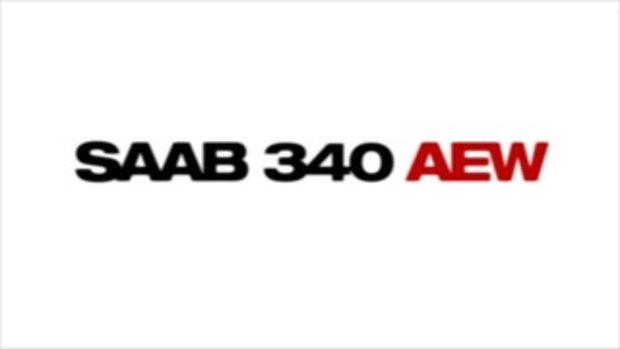 เครื่องบิน กริพเพน บินเคียงคู่ เครื่องบิน SAAB 340