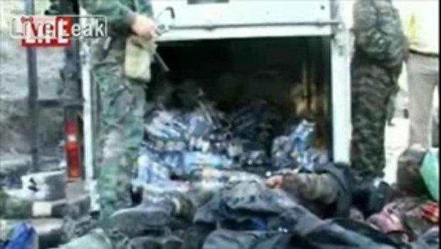 คลิป 1 ตำรวจ 10 นักรบเชเชนถูกฆ่าตายที่ Dagestan รัสเซีย
