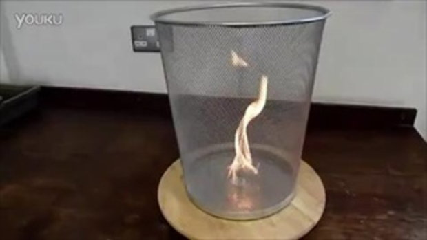 เจ๋ง!! จุดไฟในตะกร้าแล้วหมุน