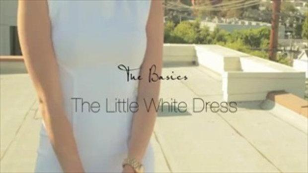 มิกแอนด์แม๊ตชุดเดรสสีขาวธรรดาให้ดูดีสะดุดตา