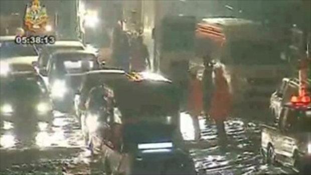 น้ำท่วม ถนนวิภาวดีรังสิต