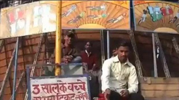 หวาดเสียว เสี่ยงตาย! รถไต่ถังในอินเดีย