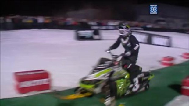 Winter X Games 2012_ First Snowmobile Front Flip Landed