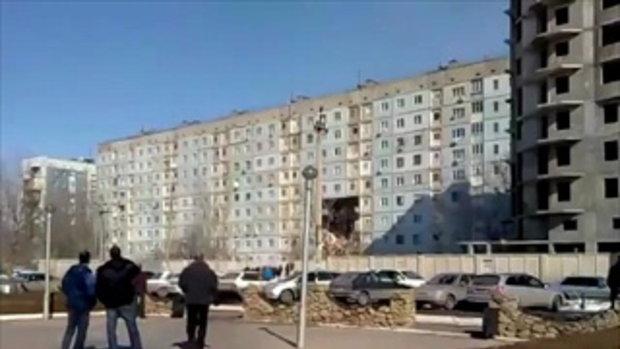 แก๊สระเบิด ทำบล็อกอพาร์ตเมนต์ 9 ชั้น ถล่มในรัสเซีย