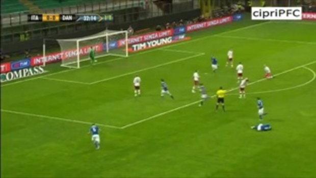 อิตาลี 3-1 เดนมาร์ก ฟุตบอลโลกรอบคัดเลือก