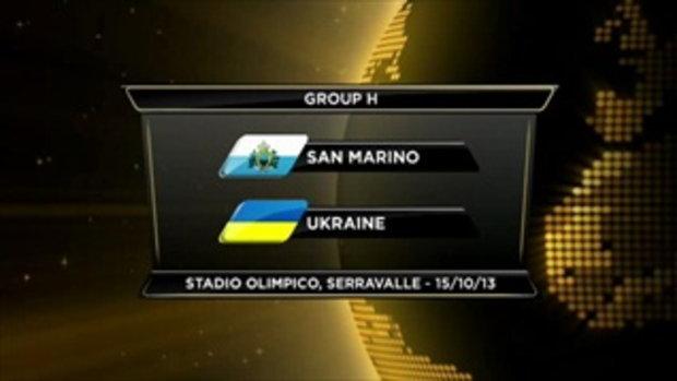 ไฮไลต์ฟุตบอล ซานมาริโน่ 0-8 ยูเครน