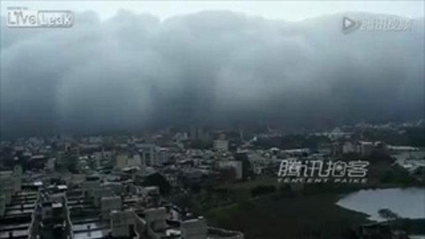 ผวา! ปรากฎการณ์ เมฆคลื่นสึนามิ! ที่ไต้หวัน