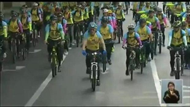 สมเด็จพระบรมฯ ทรงนำปั่นจักรยานเฉลิมพระเกียรติฯ 'Bike For Dad' (12ธ.ค.58)