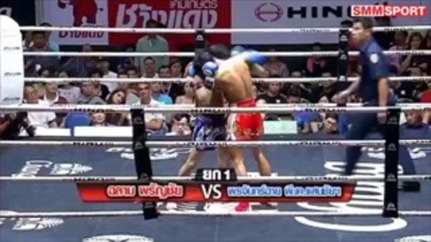 คู่มันส์ มวยไทย  ฉลาม พรัญชัย vs พระจันทร์ฉาย พี.เค.แสนชัยมวยไทยยิม