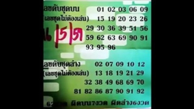 เลขเด็ด 16_5_59 เลขดับชุดบน-ล่าง หวย งวดวันที่ 16 พฤษภาคม 2559