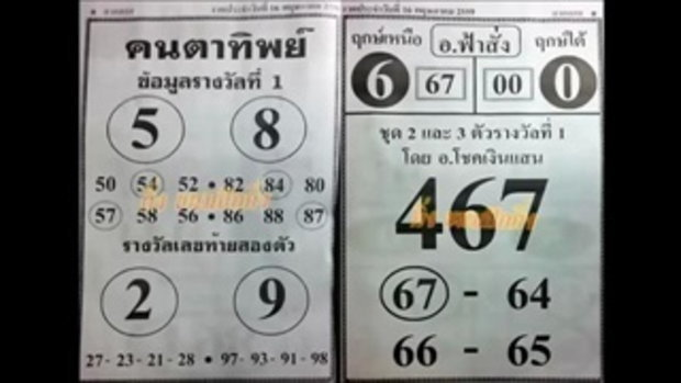 เลขเด็ด 16_5_59 คนตาทิพย์ อ.ฟ้าสั่ง หวย งวดวันที่ 16 พฤษภาคม 2559