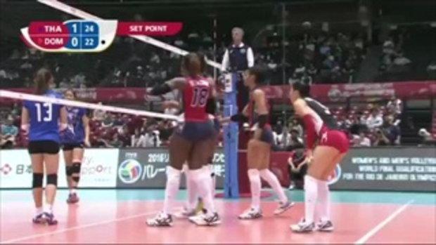 สาวไทย ประเดิมสวยอัด โดมินิกัน 3-1 ลูกยางคัดโอลิมปิก