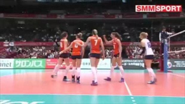 เนเธอร์แลนด์ อัด โดมินิกัน 3-0 ลูกยางคัดโอลิมปิกนัด4