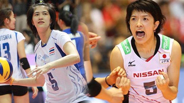 แจ่มกว่าเยอะ รวมภาพวอลเลย์บอลสาวไทย ชนะความใส สาวญี่ปุ่น