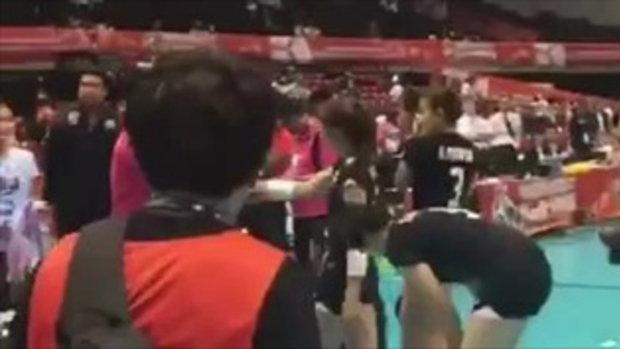 คลิปหลังเกม ไทย - เปรู ที่ไม่ได้ฉายออกอากาศของนักกีฬาไทย