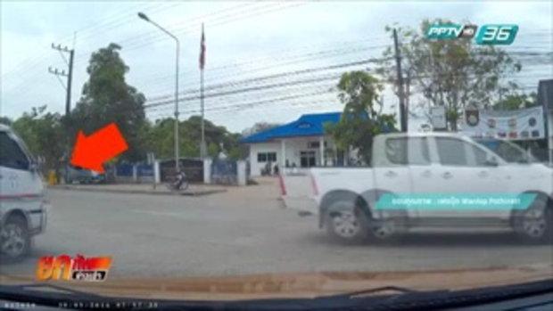 คนขับรถตู้ที่นักเรียนพลัดตกมอบตัวตำรวจ