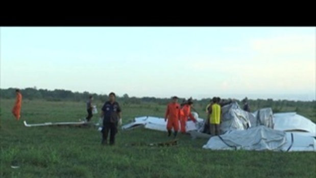 เครื่องบินฝึกบินขนาดเล็กตกกลางทุ่ง จ.นครพนม มีนักบินเสียชีวิต 3 ราย