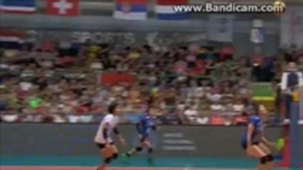 เปิดช็อตเด็ด!! นุสรา ต้อมคำ มือเชตของนักตบทีมไทยเล่นแบบนี้ หมวยจีนยังต้องยอม