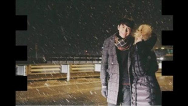 ภาพเซ็ตนี้ฟินอ่ะ 'จุ๋ย พุฒ'หวานเฟ่อ! หิมะเกาหลี เกือบละลาย!