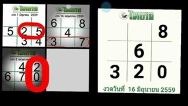คอยดู!!หวยไทยรัฐงวดนี้ จะลงล็อคตรงใหน ห้ามพลาด!!