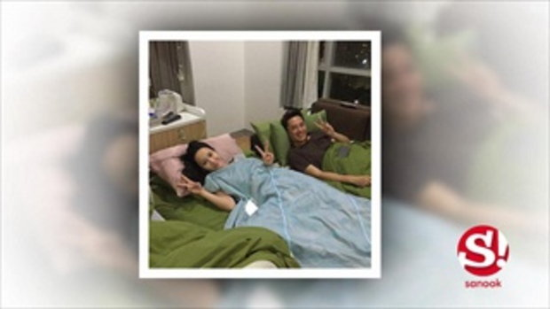 อั้ม พัชราภา น่ารัก กินนอนง่ายๆ เฝ้าไข้เพื่อนสนิททั้งคืน