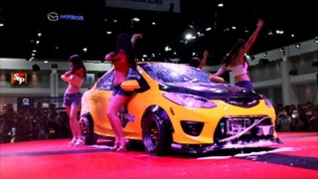 Sexy Car Wash กับ 4 สาว Auto Salon 2016 ที่เมืองทองธานี