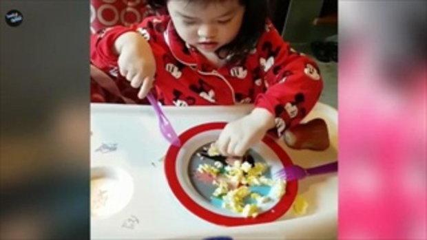 น้องบีลีฟ ลูกสาวสุดเลิฟ ตั๊ก บริบูรณ์ โชว์ฝีมือทำอาหารกินเองได้แบบนี้