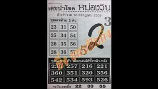 เลขเด็ด 16_7_59 เลขนำโชค หม่องวิน หวย งวดวันที่ 16 กรกฏาคม 2559