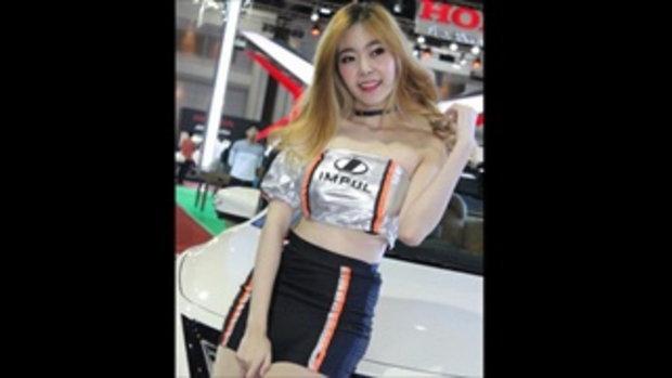 2 พริตตี้สาวสวย บู๊ท IMPUL ในงาน Bangkok Auto Salon 2016 ที่ เมืองทองธานี