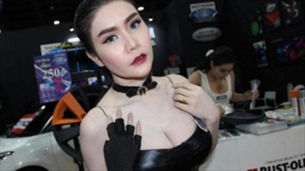 พริตตี้สาวสวย น้องอ๊อค บู๊ท RUST-OLEUM ที่งาน Bangkok Auto Salon 2016