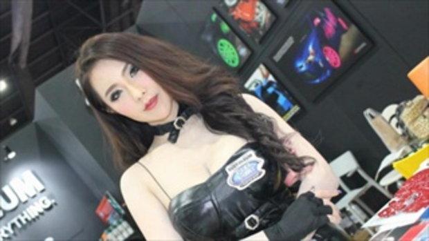 พริตตี้สาวสวย บู๊ท RUST-OLEUM ที่งาน Bangkok Auto Salon 2016 เมืองทองธานี