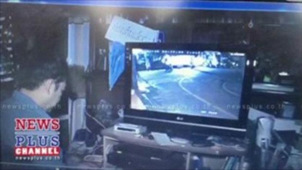 กล้องวงจรปิดจับภาพคนร้ายยิงวีระดับคาวัดฝั่งธนฯเป็นชายสวมเสื้อยืดสีดำ