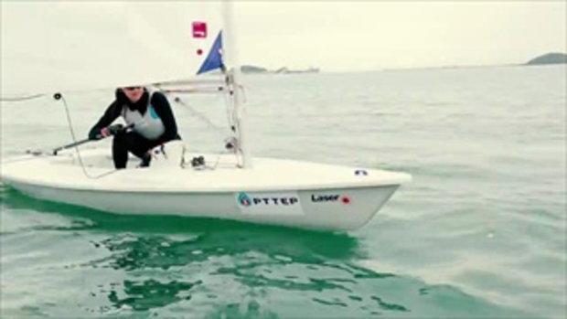 กมลวรรณ จันทร์ยิ้ม นักกีฬาเรือใบทีมชาติไทย