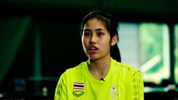 สุธาสินี เสวตรบุตร และภาดาศักดิ์ ตันวิริยะเวชกุล นักกีฬาเทเบิลเทนนิสทีมชาติไทย