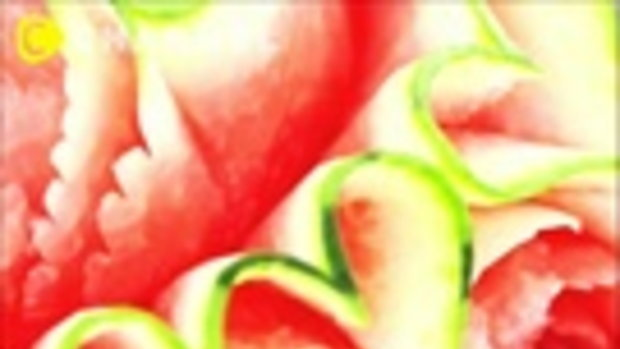 Watermelon Carving โชว์แกะสลักแตงโม
