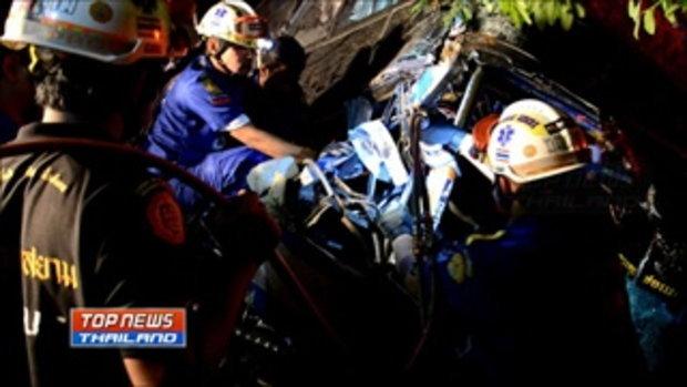 รถทัวร์กรุงเทพ-ยะลา-เบตง ชนท้ายรถพ่วง18 ล้อ เสียชีวิต 2 ราย ผู้โดยสารบาดเจ็บอีกกว่า 20 คน