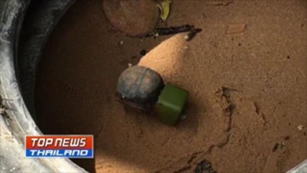ชาวบ้านผวา! ออกวางลอบดักสัตว์น้ำ พบวัตถุระเบิดทิ้งไว้ที่ชายหาดอ่าวยาง