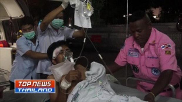 คนร้ายวางระเบิดหวังสังหารเจ้าหน้าที่ แต่พลาดถูกชาวบ้านได้รับบาดเจ็บขณะขับรถจักรยานยนต์ผ่าน