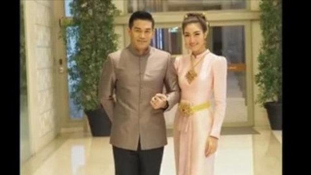 อุต๊ะ ! แพนเค้ก ควงสารวัตรหมี สวมชุดผ้าไทยออกงานคู่ รัศมีบ่าว สาวมาเต็ม