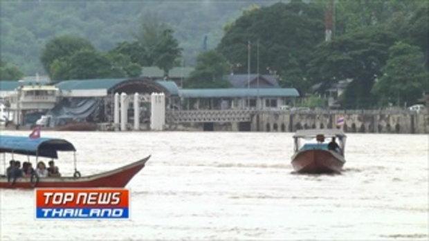 น้ำโขงยังคงไหลเชี่ยว การเดินเรือต้องใช้ความระมัดระวัง เนื่องจากมีเศษไม้ไหลมาตามน้ำกีดขวางการเดินเรือ