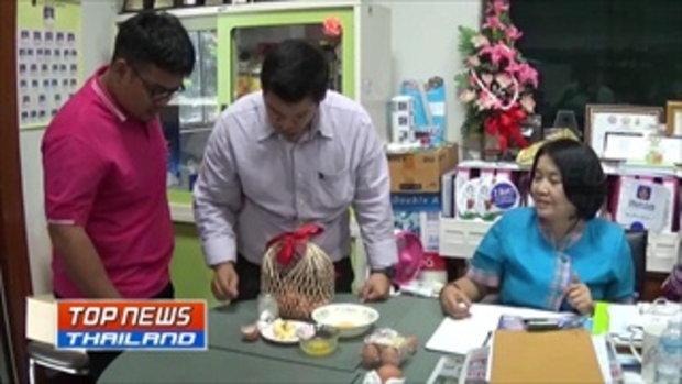 หวั่นไข่ปลอมระบาด ชาวบ้านท้องเสียหลังกินไข่ที่ซื้อมาจากตลาดนัด สาธารณสุขยืนยันเป็นไข่จริงแต่เก็บไว้น