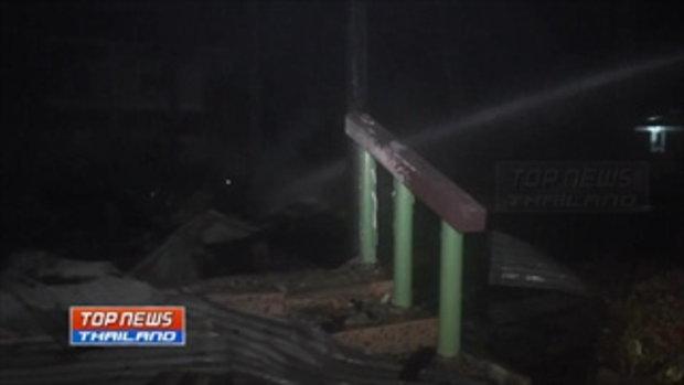 ไฟไหม้ โรงเรียนชุมชนบ้านโพนงามโพน สวางวอดทั้งหลัง คาดเหตุเกิดจากไฟฟ้าลัดวงจร