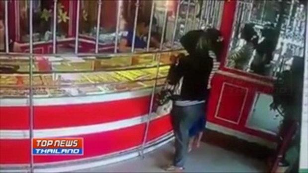 เจ้าของร้านทอง เผยวงจรปิดคนร้ายสับเปลี่ยนสร้อยทอง ตั้งรางวัลนำจับ 5,000 บาท